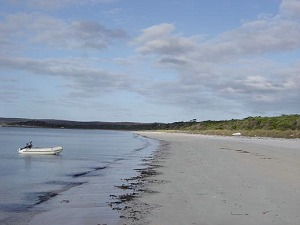 Looking east along Island Beach